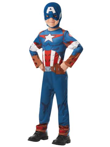 """Rubie`s 2-częściowy kostium """"Captain America"""" w kolorze niebieskim"""