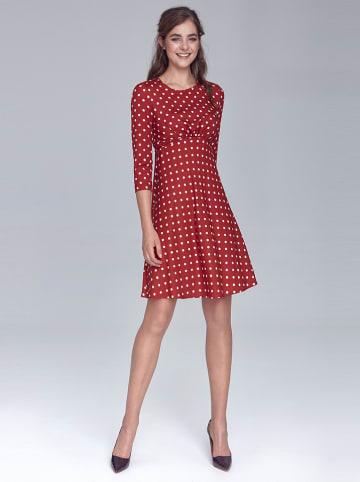 Nife Sukienka w kolorze czerwono-białym ze wzorem