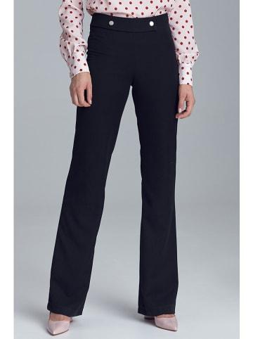 Nife Spodnie w kolorze czarnym