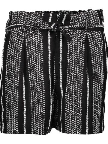 """Herrlicher Shorts """"Comfy"""" in Schwarz/ Weiß"""