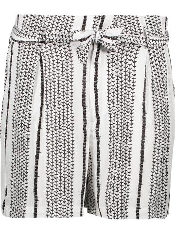 """Herrlicher Shorts """"Comfy"""" in Weiß/ Schwarz"""