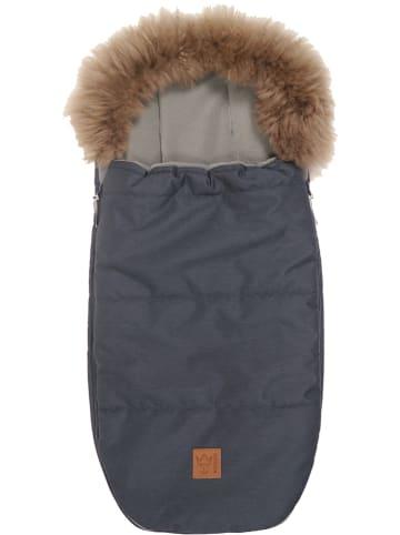 """Kaiser Naturfellprodukte Śpiworek termiczny """"Louis"""" w kolorze granatowym - 98 x 45 cm"""