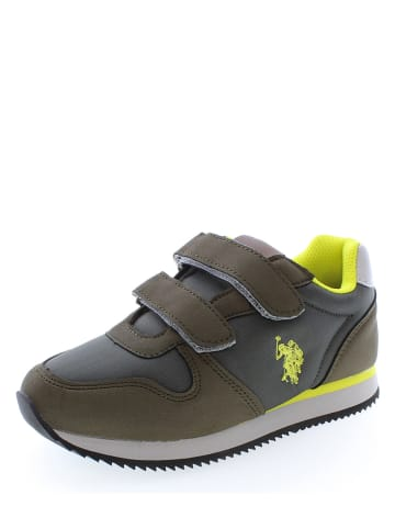 "U.S. Polo Sneakersy ""Shan"" kolorze khaki"