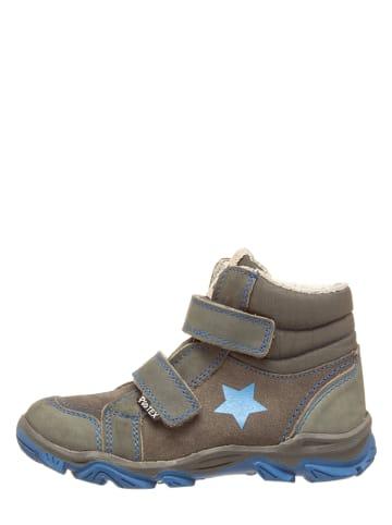 Pio Skórzane buty trekkingowe w kolorze szaro-niebieskim