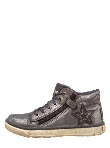 Pio Leren sneakers grijs