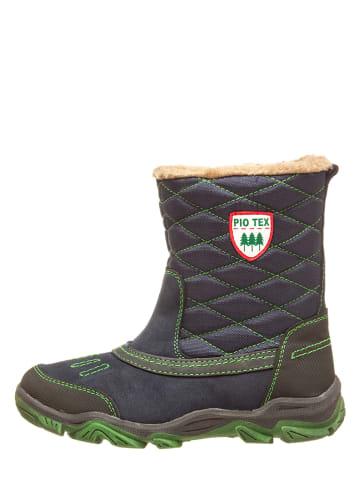 Pio Kozaki zimowe w kolorze granatowo-zielonym