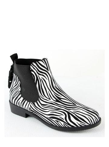 Catisa Chelseaboots zwart/wit