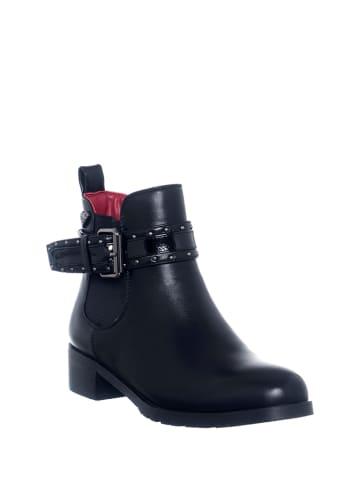 Braccialini Leren boots zwart