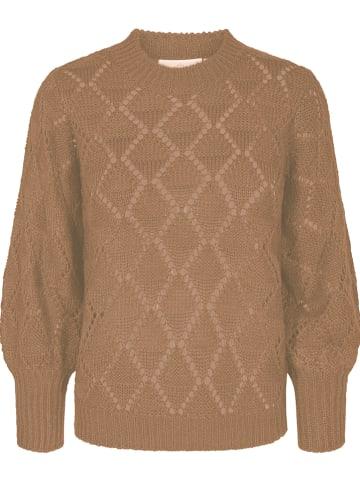 """Kaffe Sweter """"Joanna"""" w kolorze jasnobrązowym"""