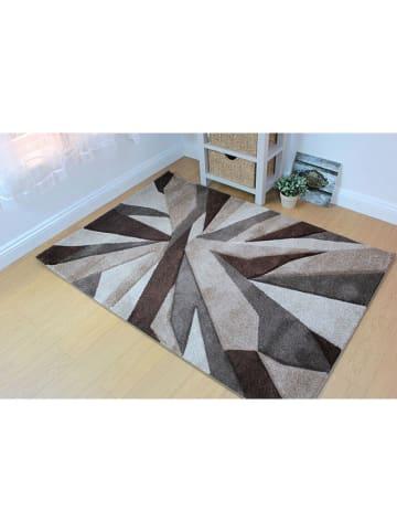 Flair Rugs Teppich in Braun/ Grau/ Bunt