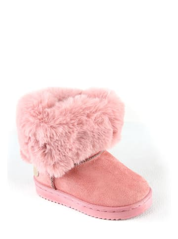 Rock & Joy Botki zimowe w kolorze różowym
