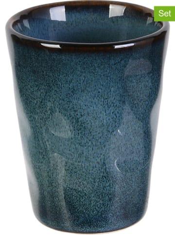 Rétro Chic 6-delige set: espressobekers blauw - 100 ml