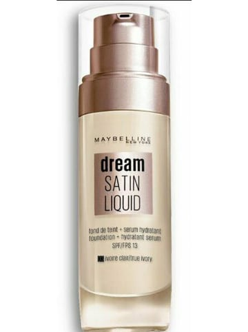 """Maybelline Foundation """"Dream Satin Fluid - 3 Ivoire Claire"""", 30 ml"""