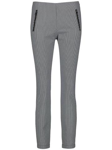 TAIFUN Hose - Skinny fit - in Schwarz/ Weiß