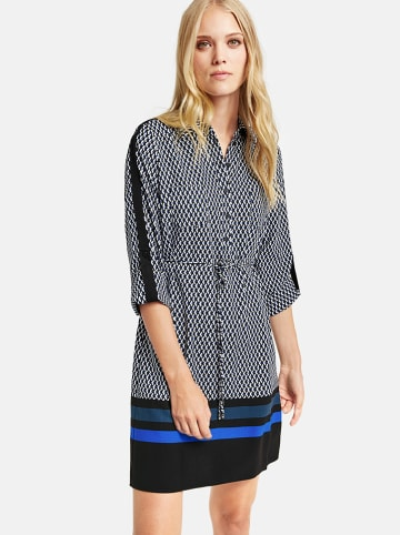TAIFUN Kleid in Blau/ Schwarz