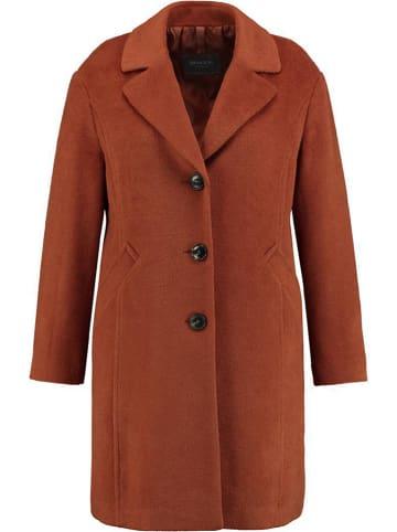 SAMOON Płaszcz w kolorze brązowym