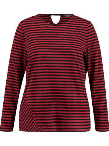 SAMOON Koszulka w kolorze czerwono-czarnym