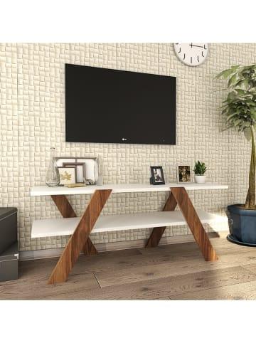 "Scandinavia Concept TV-meubel ""Basic"" wit/bruin - (B)120 x (H)45 x (D)33 cm"