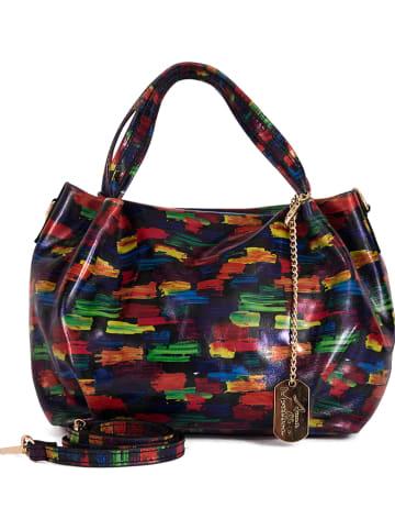 Anna Morellini Skórzana torebka ze wzorem - 32 x 30 x 18 cm