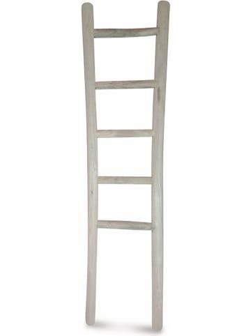 Deco Lorrie Decoratieve ladder lichtgrijs - (B)28 x (H)120 cm