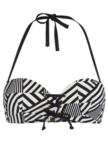 Sapph Bikinitop zwart/wit