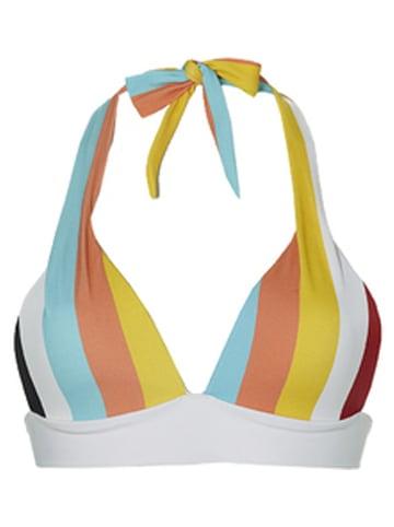 Sapph Bikini-Oberteil in Weiß/ Bunt