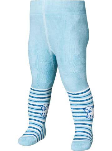 Playshoes Rajstopy termiczne w kolorze błękitnym