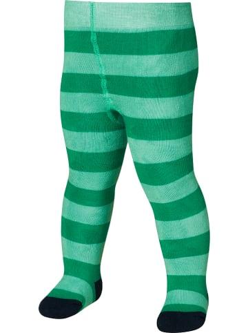 Playshoes Rajstopy termiczne w kolorze zielonym