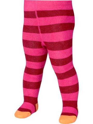Playshoes Rajstopy termiczne w kolorze różowym