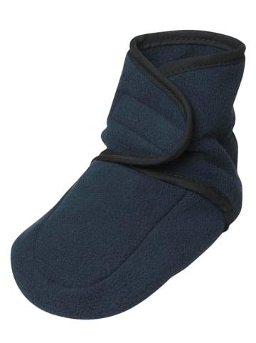 Playshoes Fleece kruipschoentjes donkerblauw