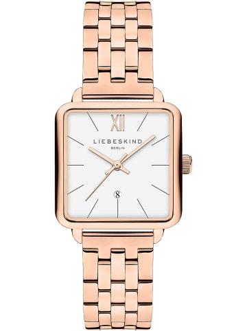 Liebeskind Zegarek kwarcowy w kolorze biało-różowozłotym