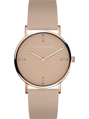 Liebeskind Zegarek kwarcowy w kolorze szarobrązowo-różowozłotym