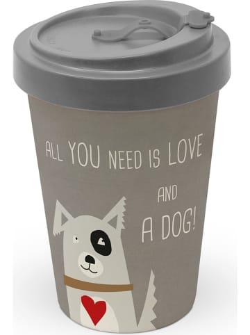 """Ppd Kubek To-Go """"Love and Dog"""" w kolorze szarobrązowym - 400 ml"""