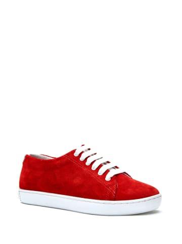 Comfortfusse Skórzane sneakersy w kolorze czerwonym