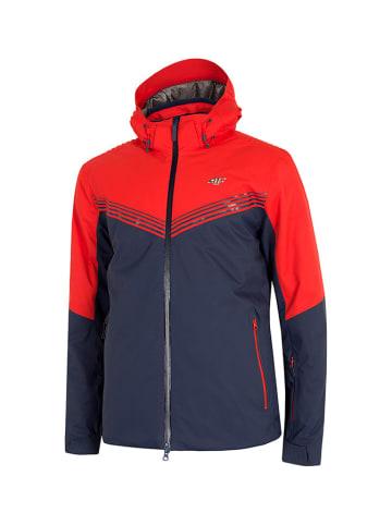 4F Ski-/snowboardjas donkerblauw/rood