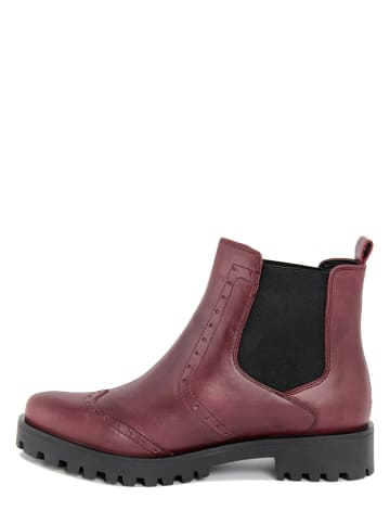 BlueTag Leder-Chelsea-Boots in Bordeaux