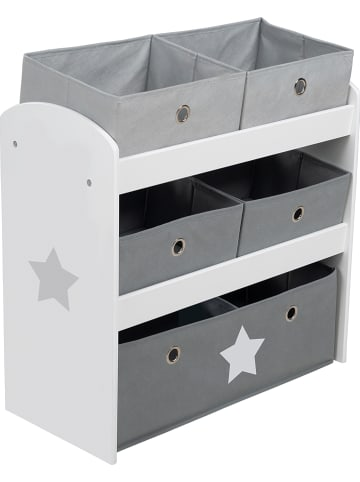 """Roba Kast """"Stars"""" grijs - (B)63,5 x (H)60 x (D)30 cm"""