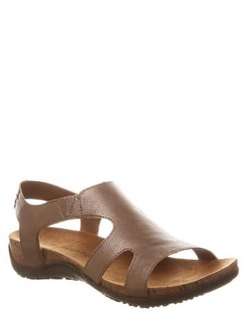 """Bearpaw Leren sandalen """"Wilma"""" bruin"""