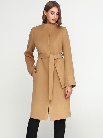 Florens Wełniany płaszcz w kolorze jasnobrązowym