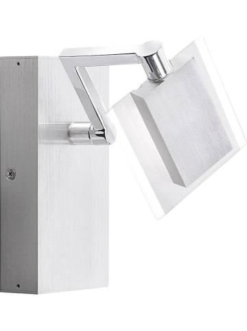 FISCHER & HONSEL Ledwandlamp zilverkleurig - (B)10 x (H)15,5 cm