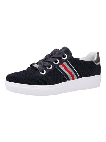 Ara Shoes Sneakers in Dunkelblau/ Silber