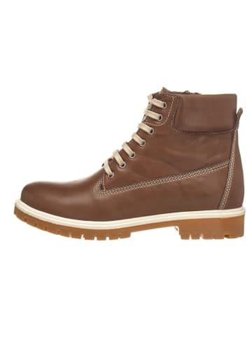Andrea Conti Leren boots donkerbruin