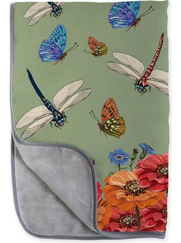 """Madre Selva Deken """"Tierra Bella"""" groen/meerkleurig - (L)170 x (B)130 cm"""