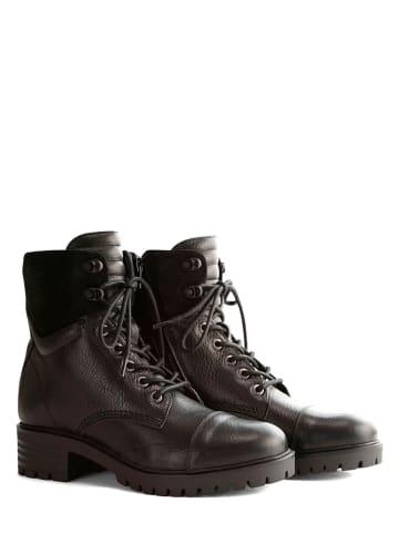 "NoGRZ Leren boots ""F.Furness"" zwart"