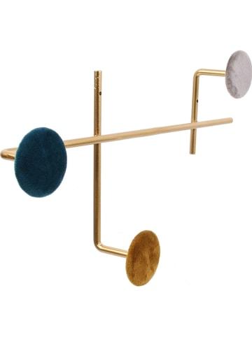 Rétro Chic Wandkapstok goudkleurig - (B)39,5 x (H)22,5 x (D)6 cm