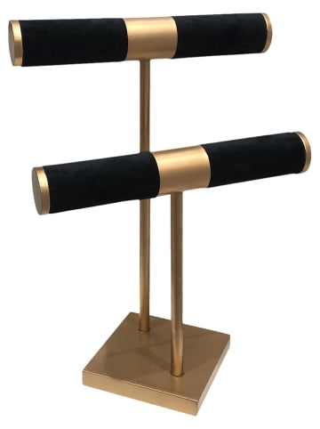 Rétro Chic Sieradenhouder zwart/goudkleurig - (B)21 x (H)29,5 x (D)14 cm