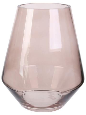"""Rétro Chic Vase """"Kyara"""" in Grau/ Beige - (H)21 x Ø 17 cm"""