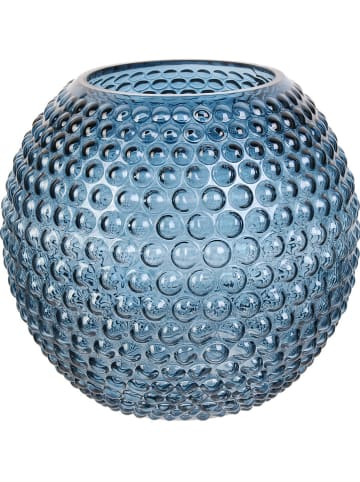 """THE HOME DECO FACTORY Wazon """"Dolia"""" w kolorze niebieskim - wys. 18 x Ø 20 cm"""