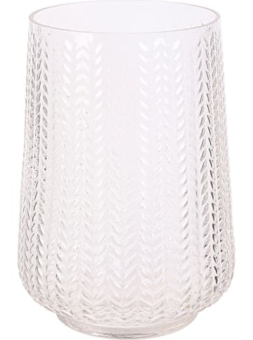 """THE HOME DECO FACTORY Vase """"Carly"""" in Transparent - (H)20 x Ø 15 cm"""