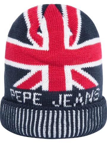 """Pepe Jeans Czapka """"Iker Jr"""" w kolorze czerwono-granatowym"""